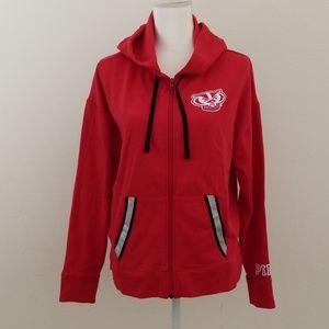 VS Pink Wisconsin badgers full zip Women's hoodie